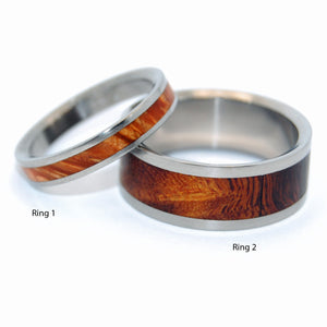 You at Sunrise and Desert Rose | Matching Wooden Wedding Ring Set - Minter and Richter Designs