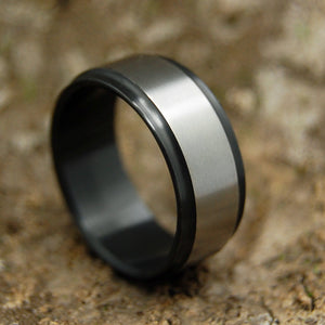 Mens Wedding Rings - Custom Mens Rings - Black Zirconium Ring | ZIRCON