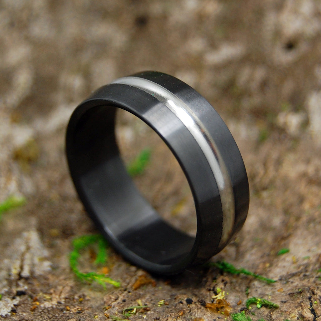 Men's Black Zirconium Ring - Handcrafted Zirconium Wedding Ring | ZIRCONIUM SIGNATURE