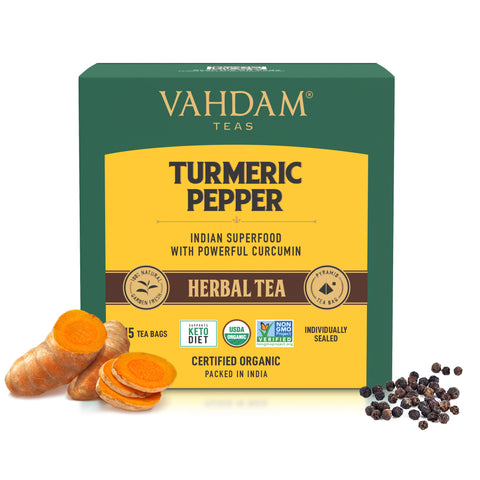 Turmeric Pepper Herbal Tea Bags - 5 Days Pack