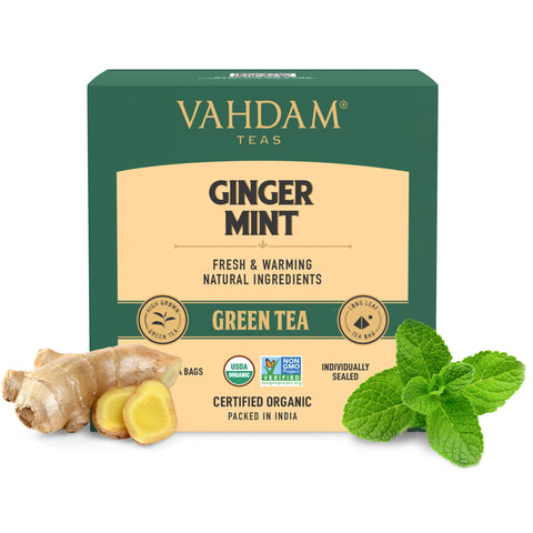 Ginger Mint Green Tea Bags - 5 Days Pack