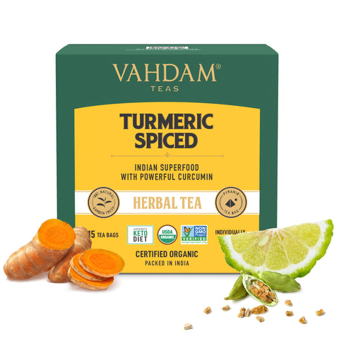 Turmeric Spiced Herbal Tea Tisane - 15 Tea Bags