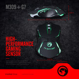 MARVO M309+G7 USB Gaming Mouse with Mouse Pad