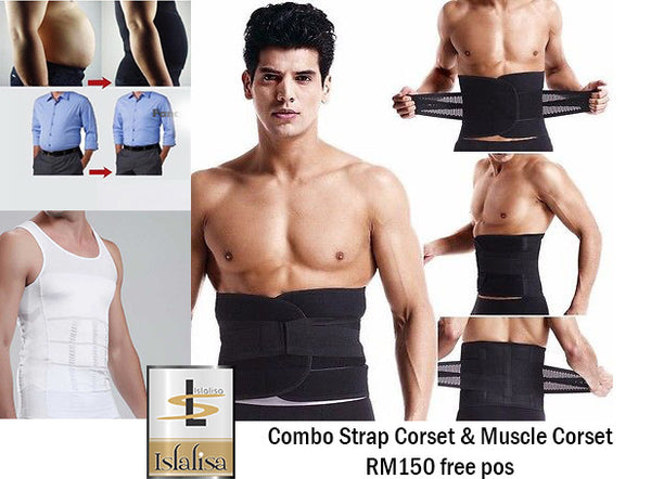COMBO Waist Belt and Slim Fit Men Corset