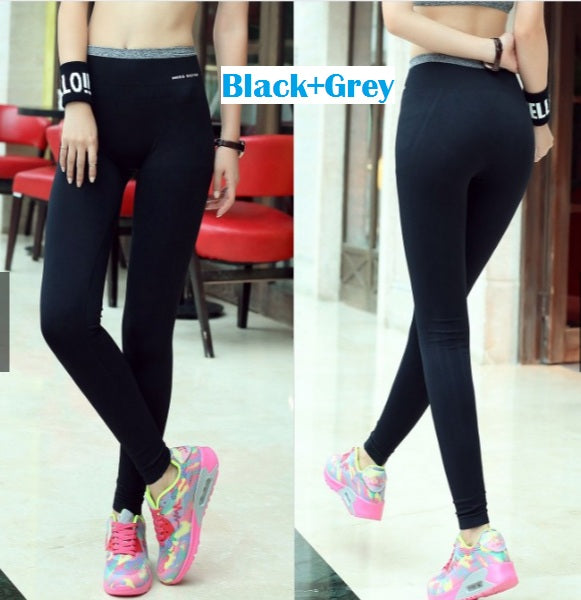Yoga Pants Stretchable Breathable Style 5 Black Grey