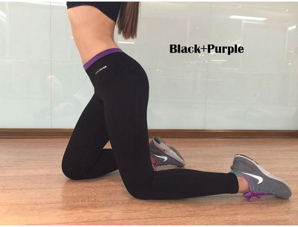 Yoga Pants Stretchable Breathable Style 5 Purple