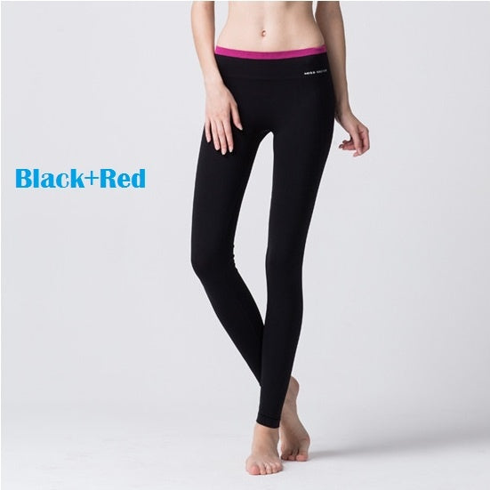 Yoga Pants Stretchable Breathable Style 5 Red