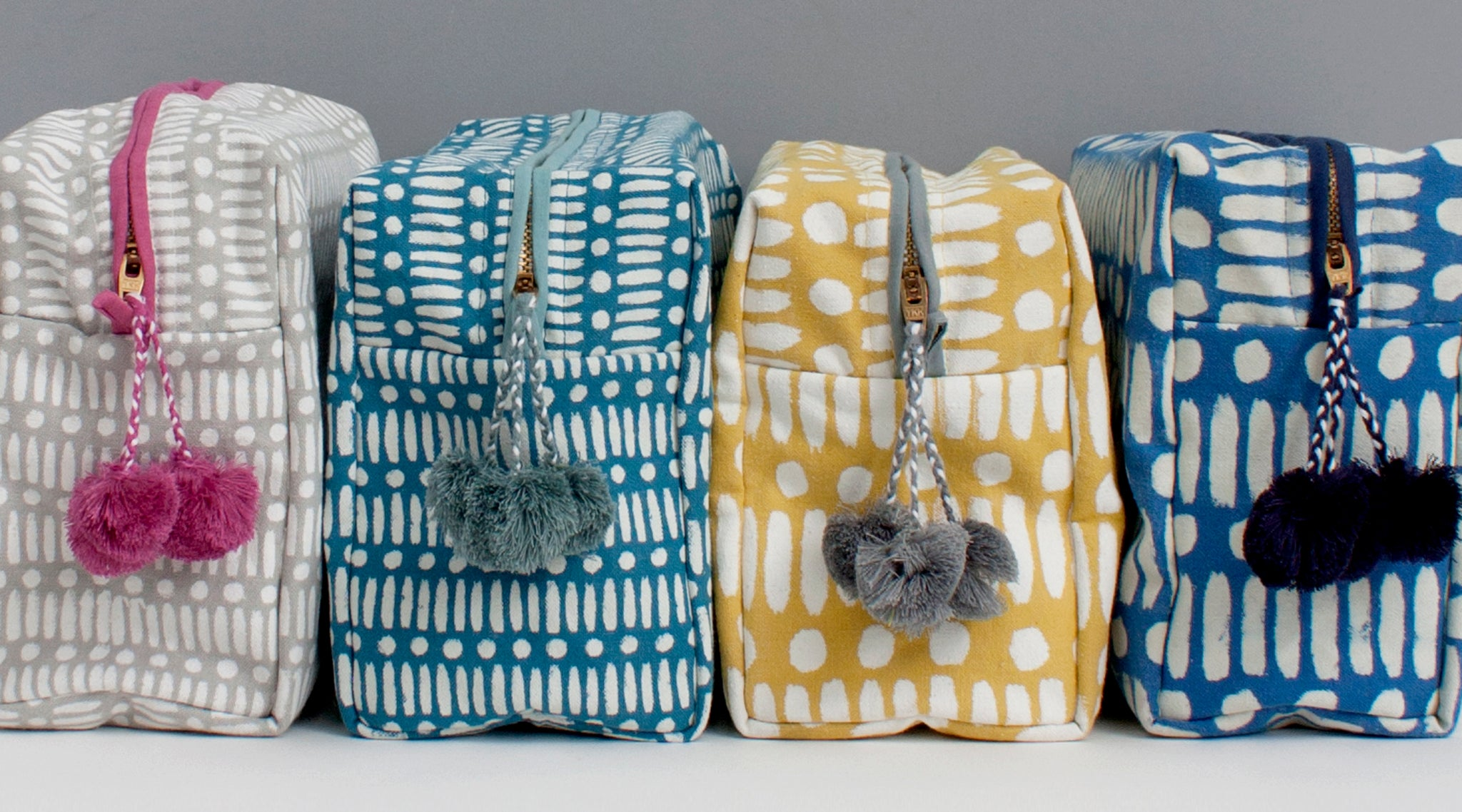 Bohemia Block Printed Washbags
