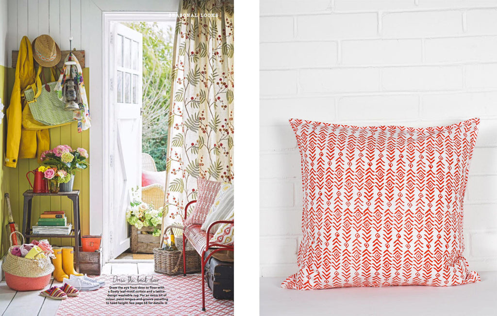 Indian Block Print Aztec Cushion