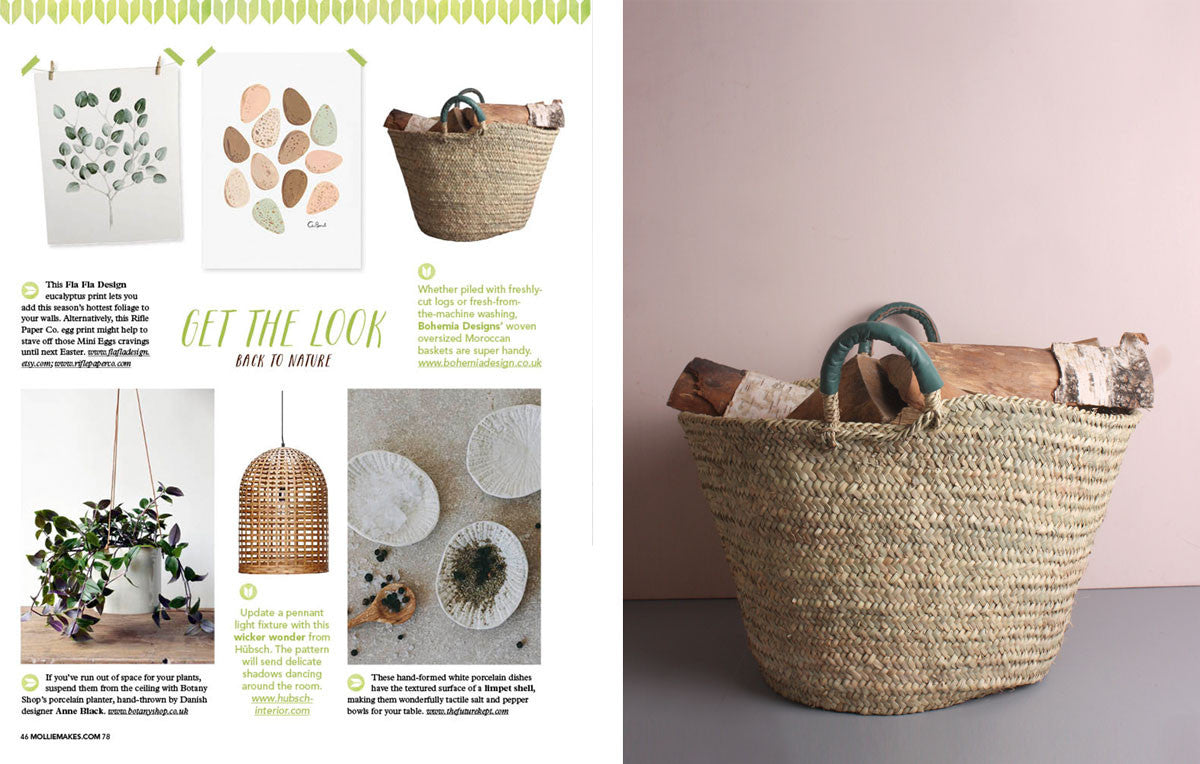 Sage Leather Beldi Basket