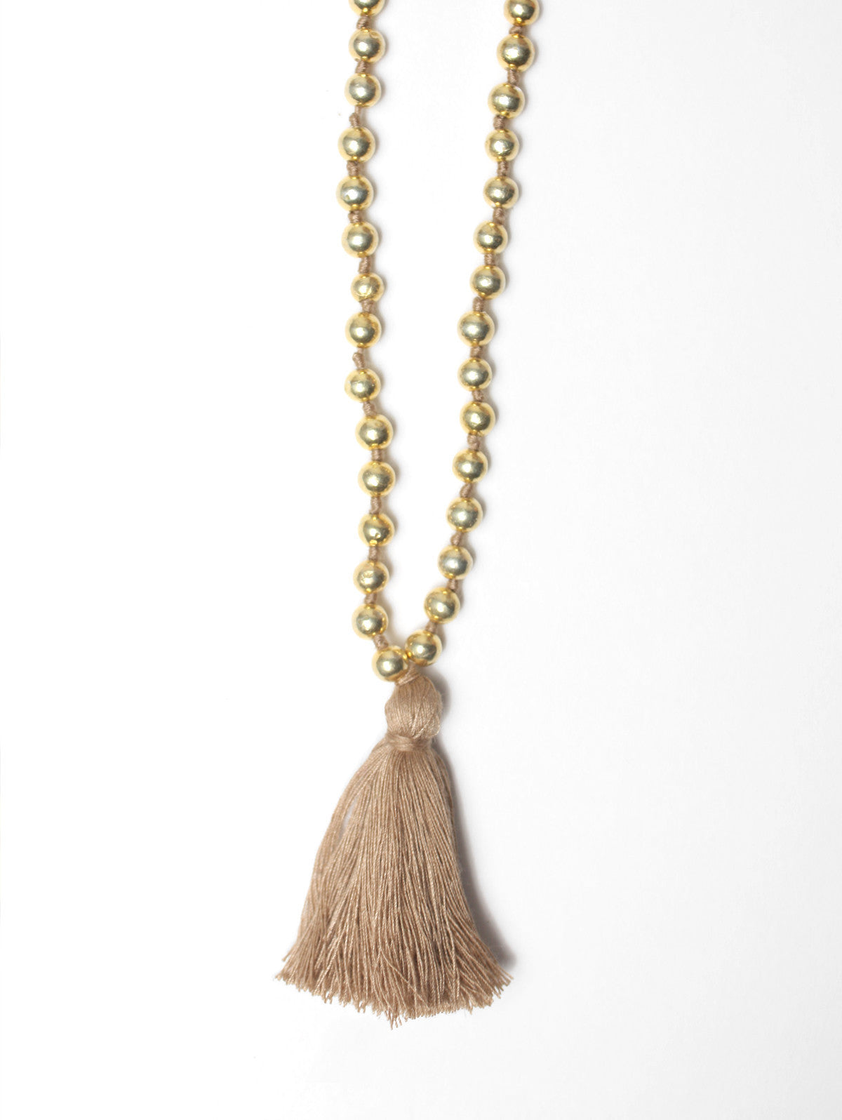 Aurora Gold Necklace, Taupe