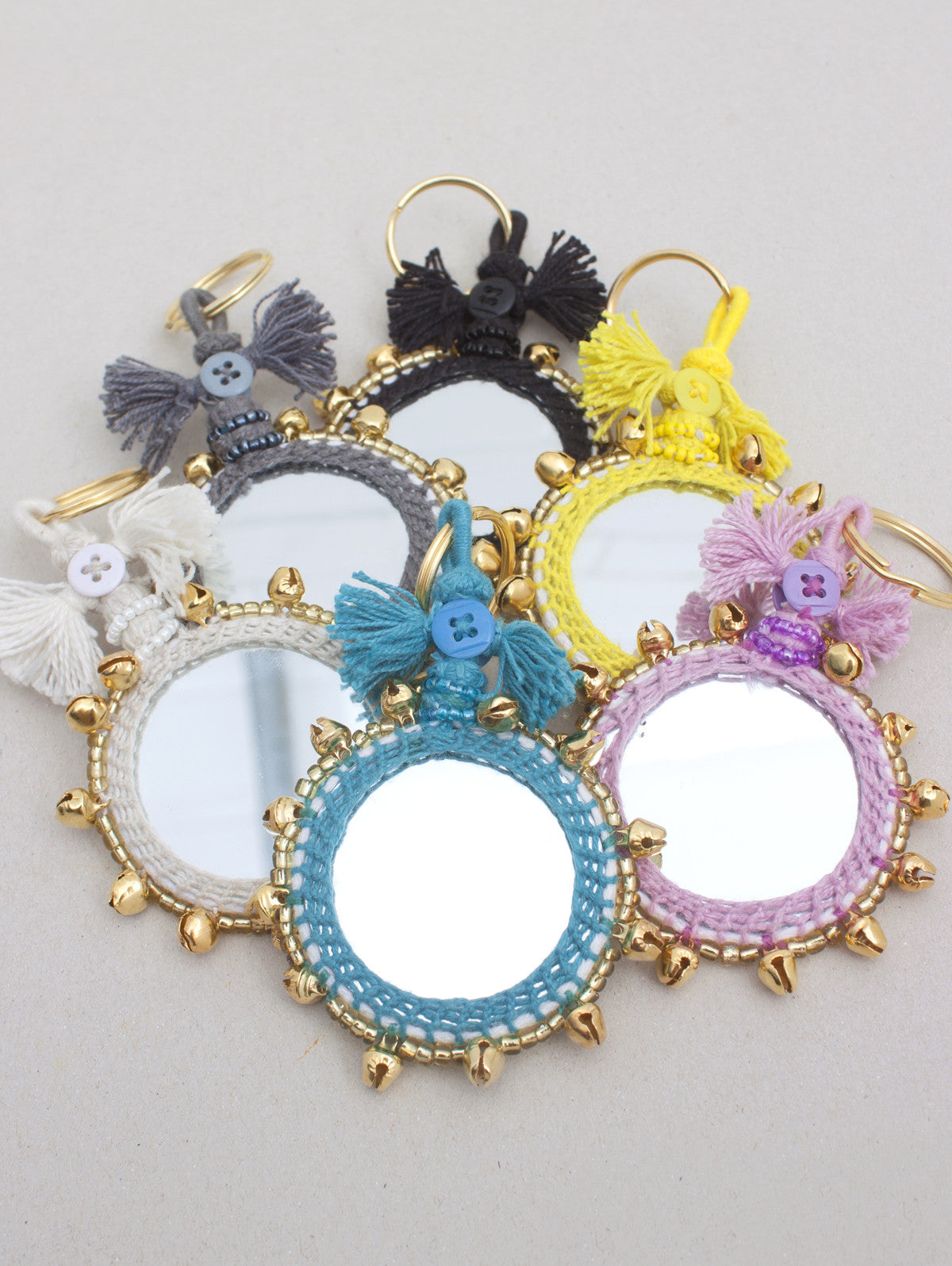 Bell Mirror Keyrings