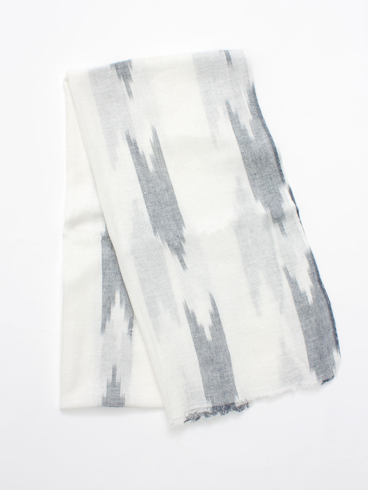 Arrow Ikat Scarves, Charcoal