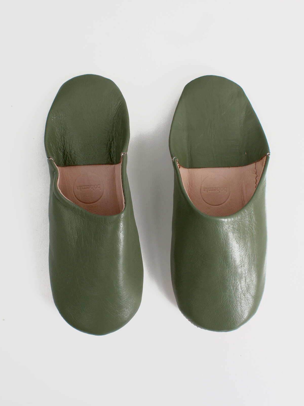Slippers & Clogs Bohemia Design | Moroccan Babouche Basic Slippers, Olive