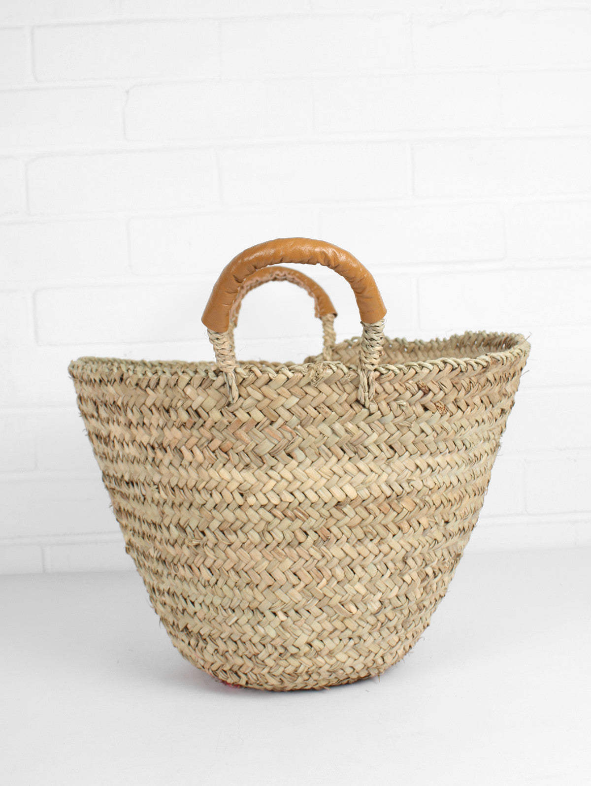 Beldi Leather Baskets, Mustard
