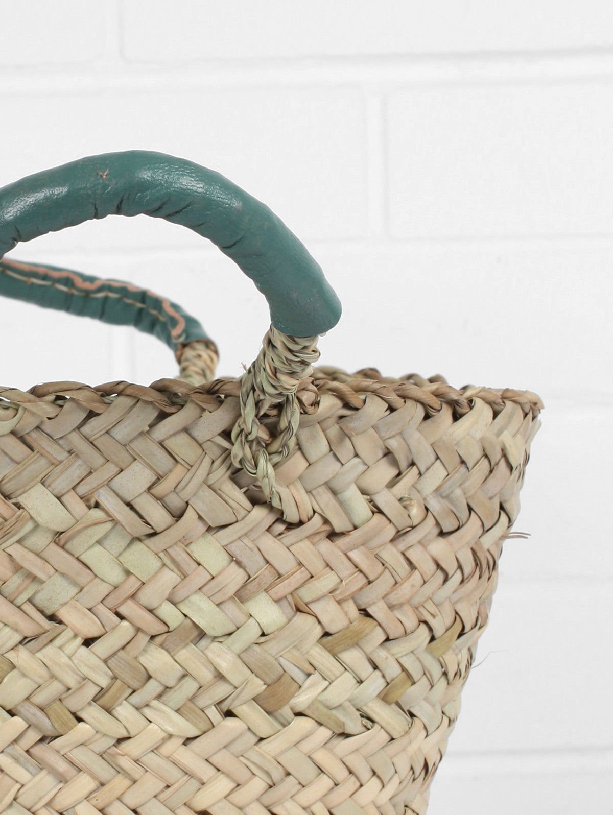 Beldi Leather Baskets, Sage