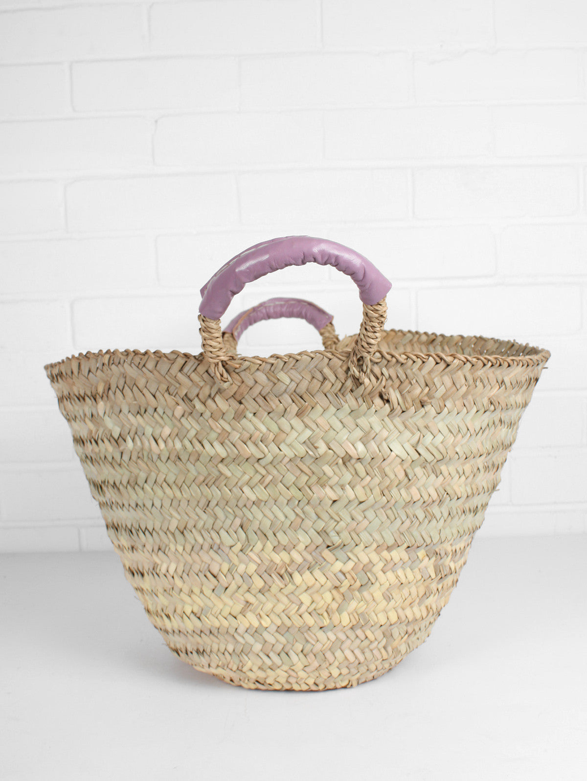Beldi Leather Baskets, Vintage Pink