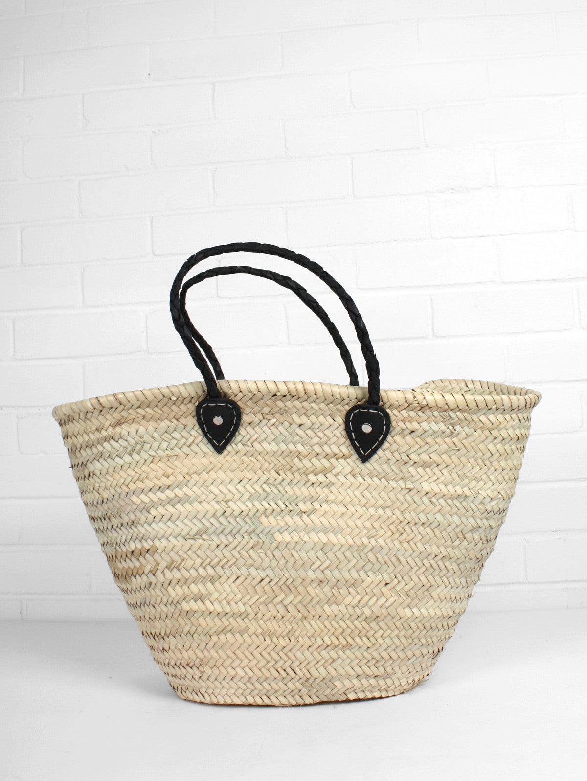 French Shopping Basket, Black