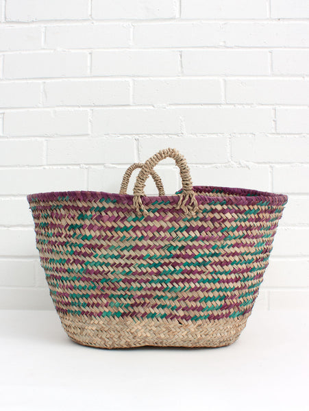 Basket Weaving Supply Companies : Country colour weave basket bohemia design