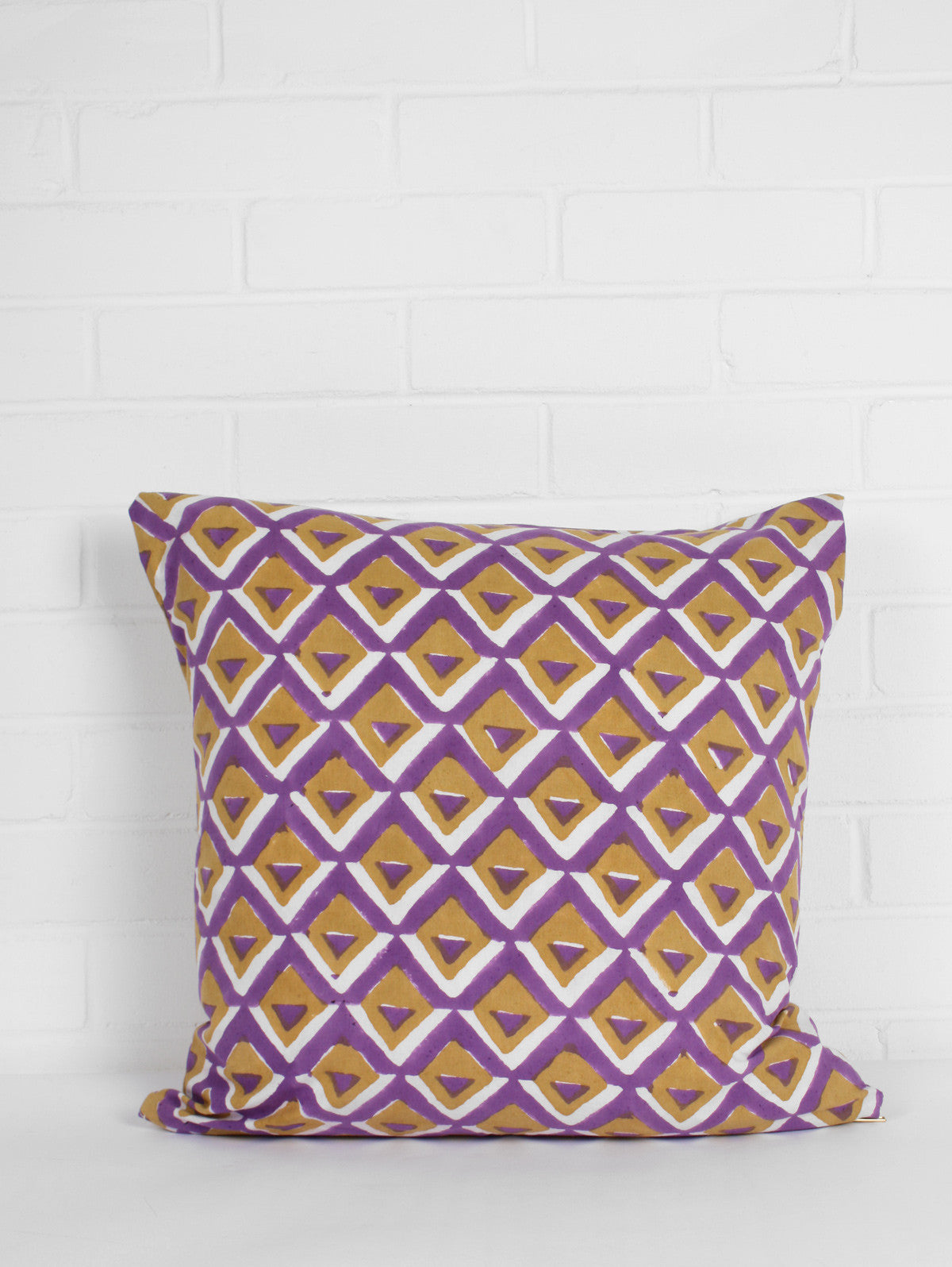 Geo Cushions, Purple