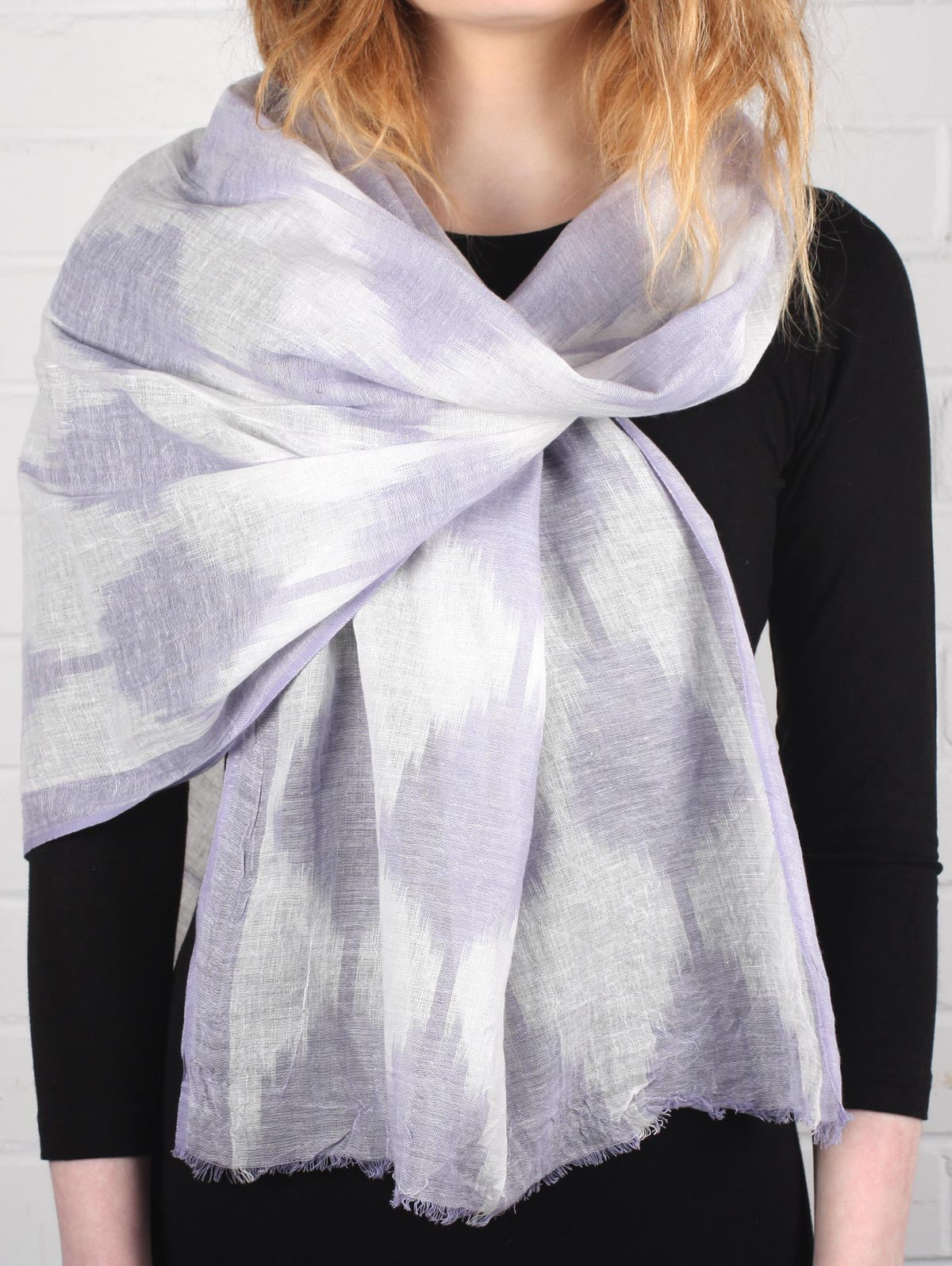 Diamond Ikat Scarves, Lilac