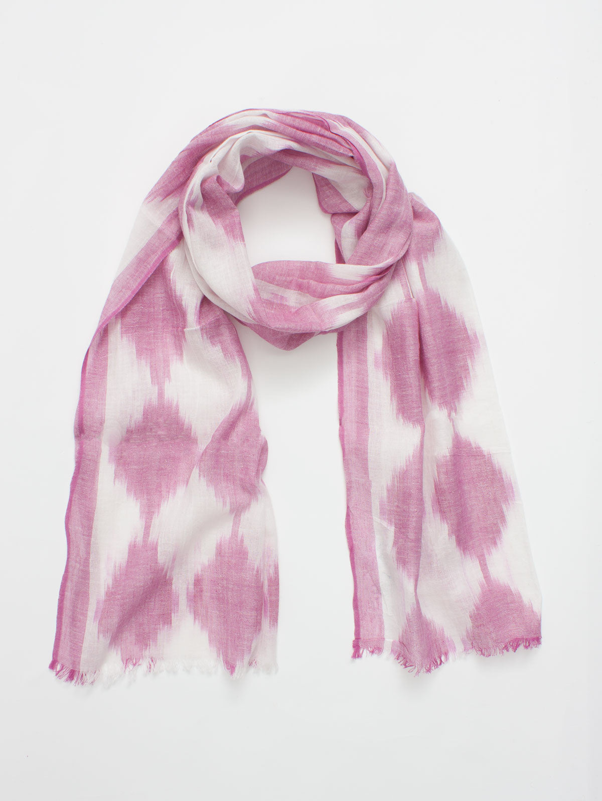 Diamond Ikat Scarves, Fuchsia
