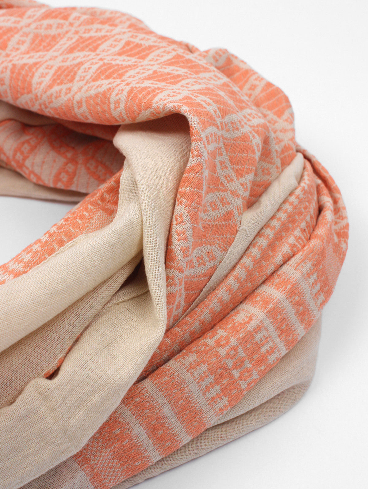 Embroidered Scarves, Peach