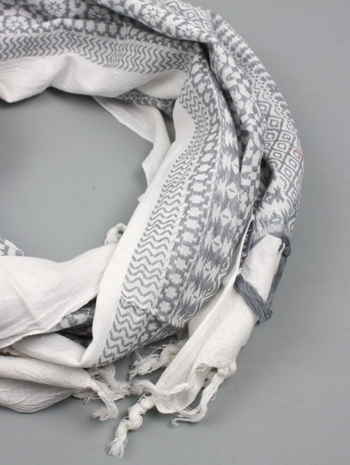 Embroidered Scarves, Grey