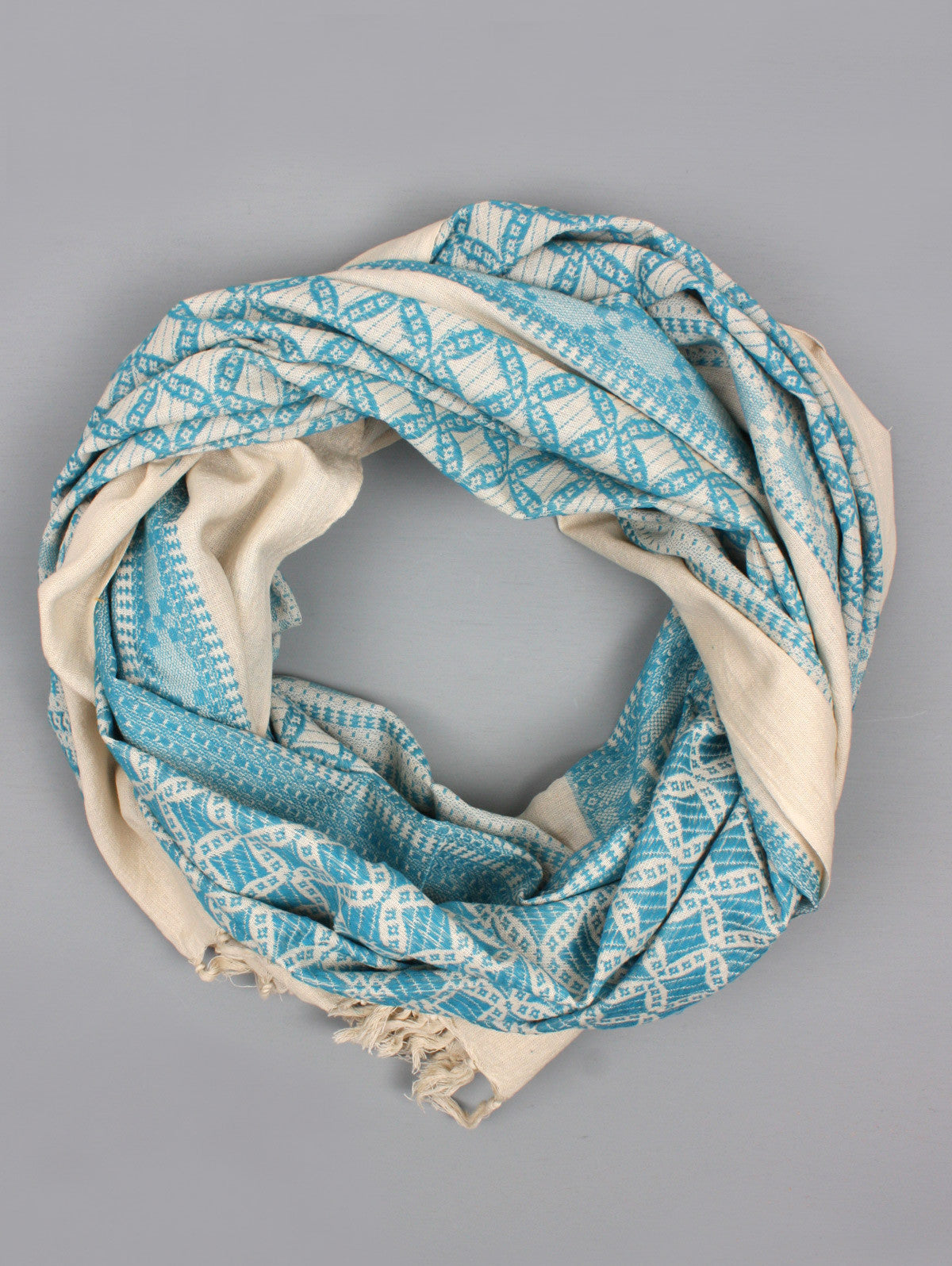 Embroidered Scarves, Teal
