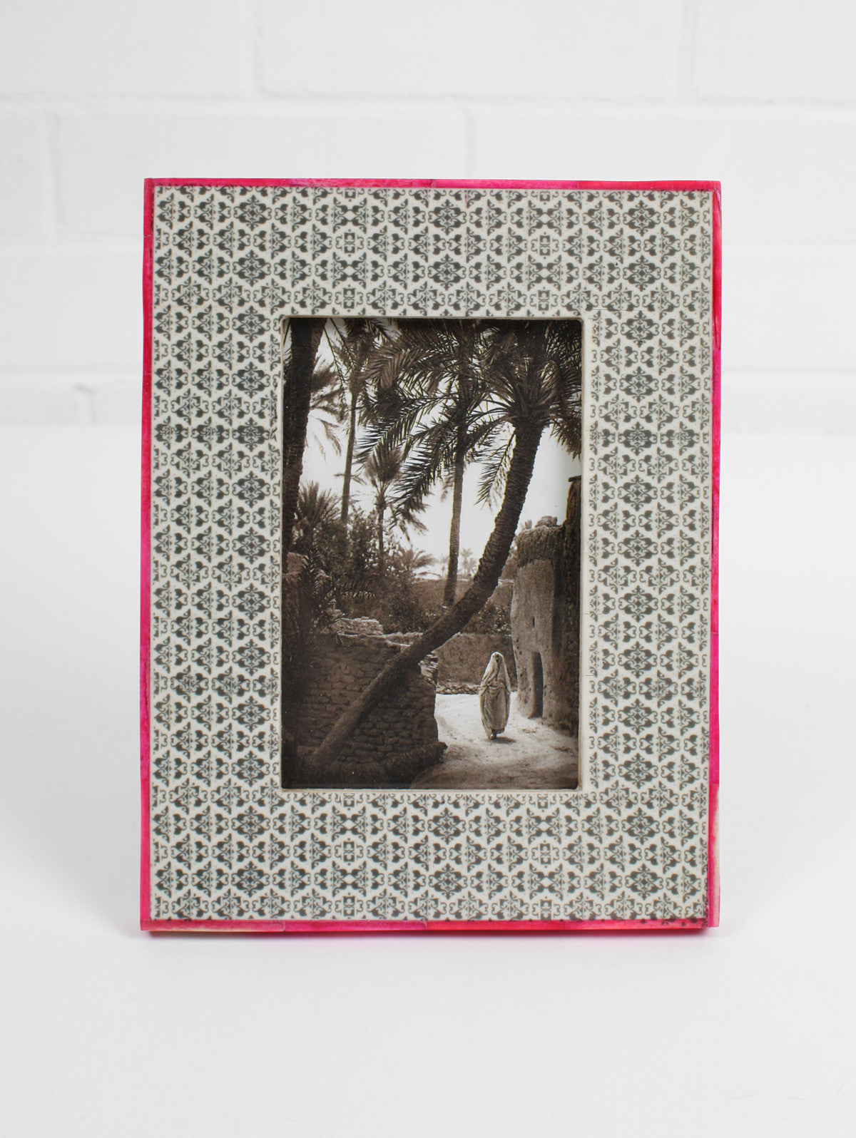 Tile Photo Frame, Pink