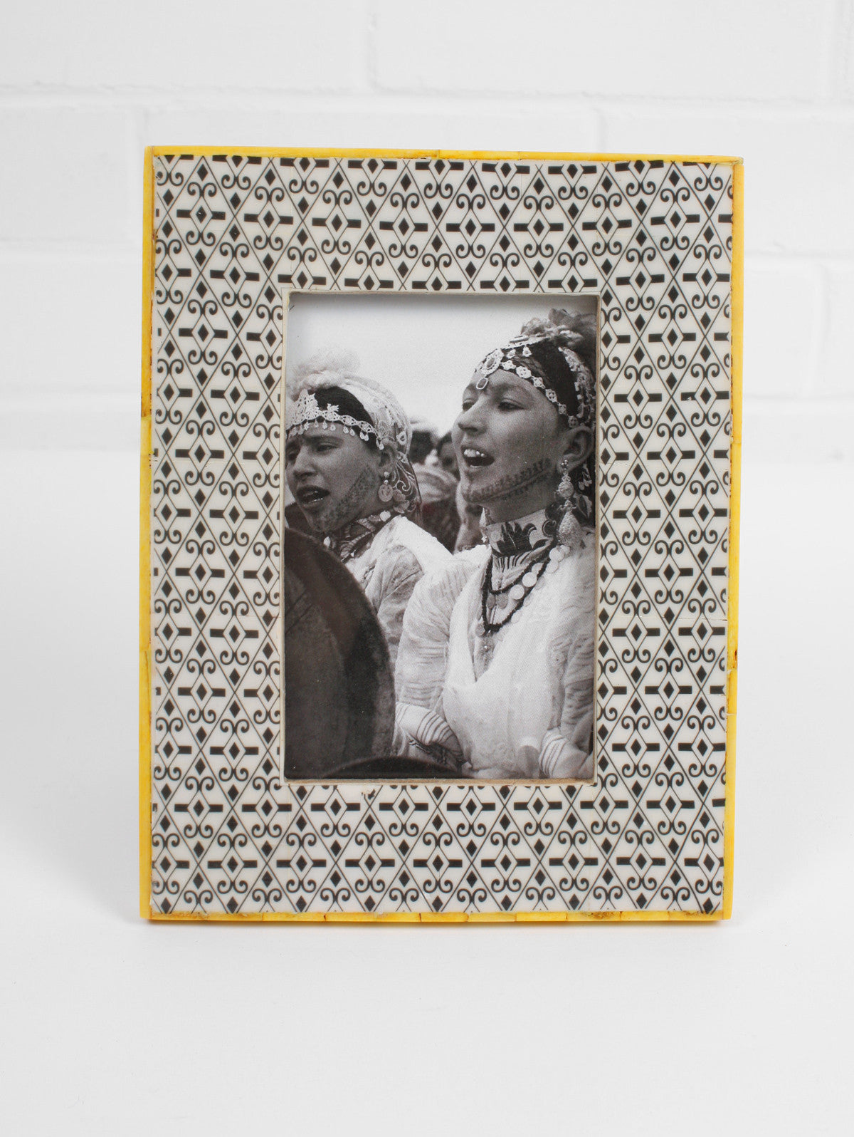 Tile Photo Frame, Yellow