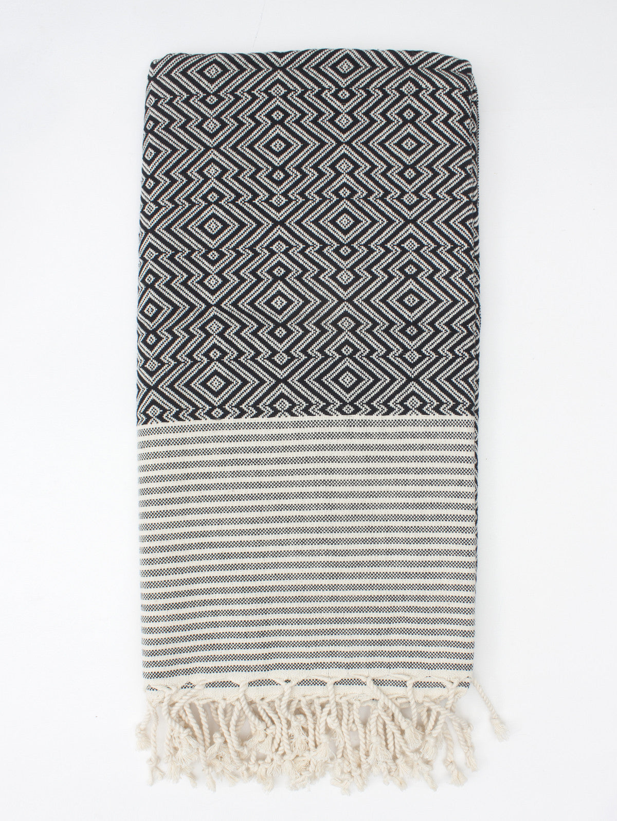 Inca Hammam Towel, Black