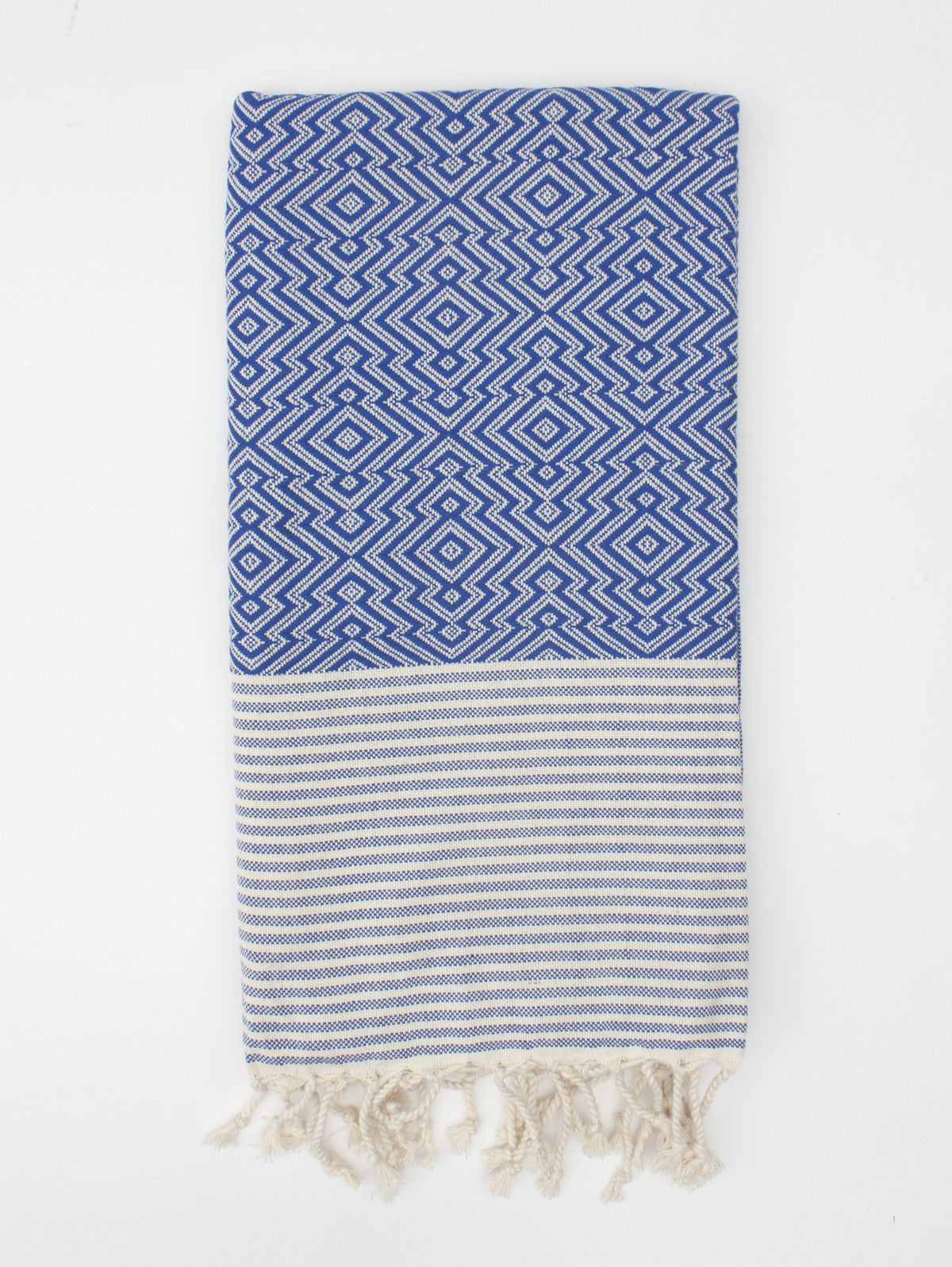 Inca Hammam Towel, Blue