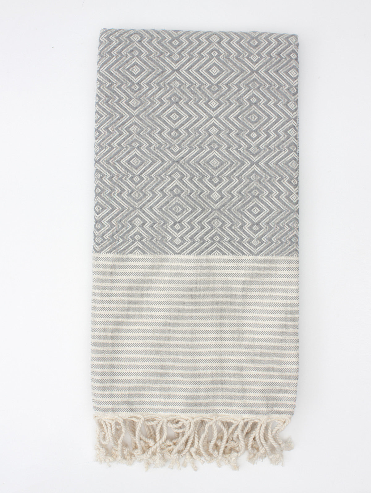 Inca Hammam Towel, Grey