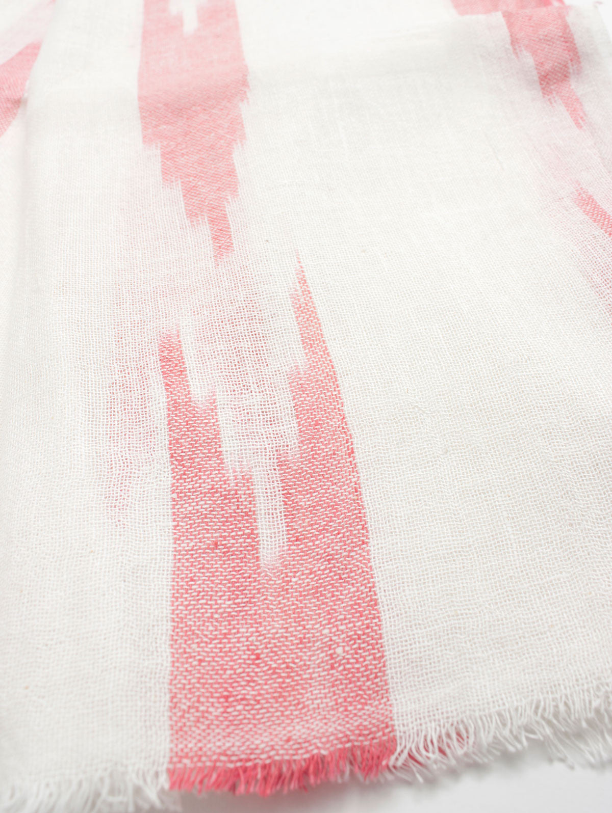Arrow Ikat Scarves, Coral