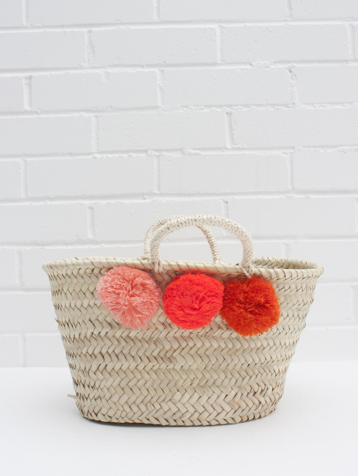 Mini Market Pom Pom Baskets, Mixed