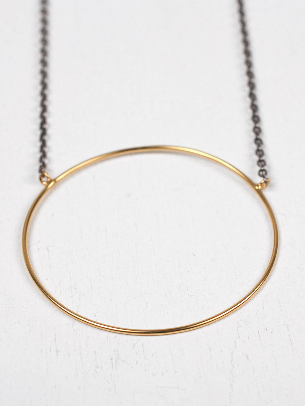 Gold Juno Necklaces with Oxidised Chain
