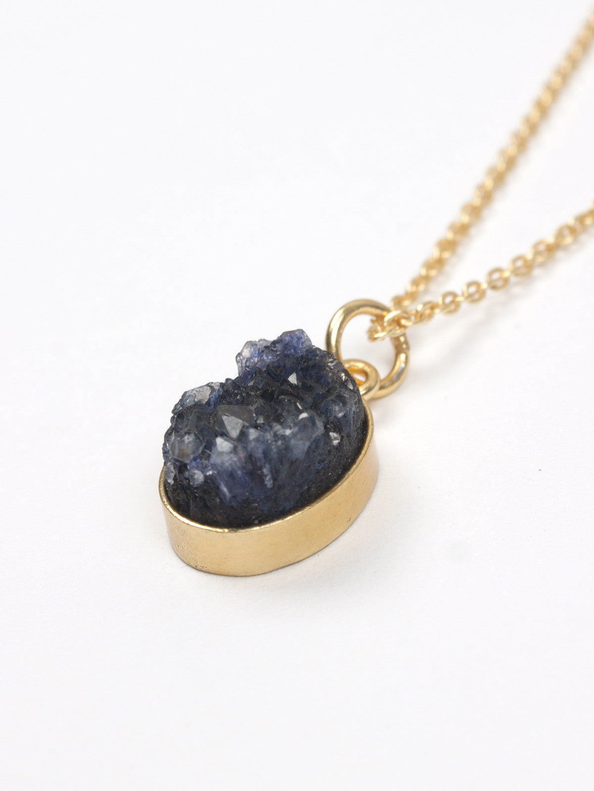 Oval Druzy Necklaces