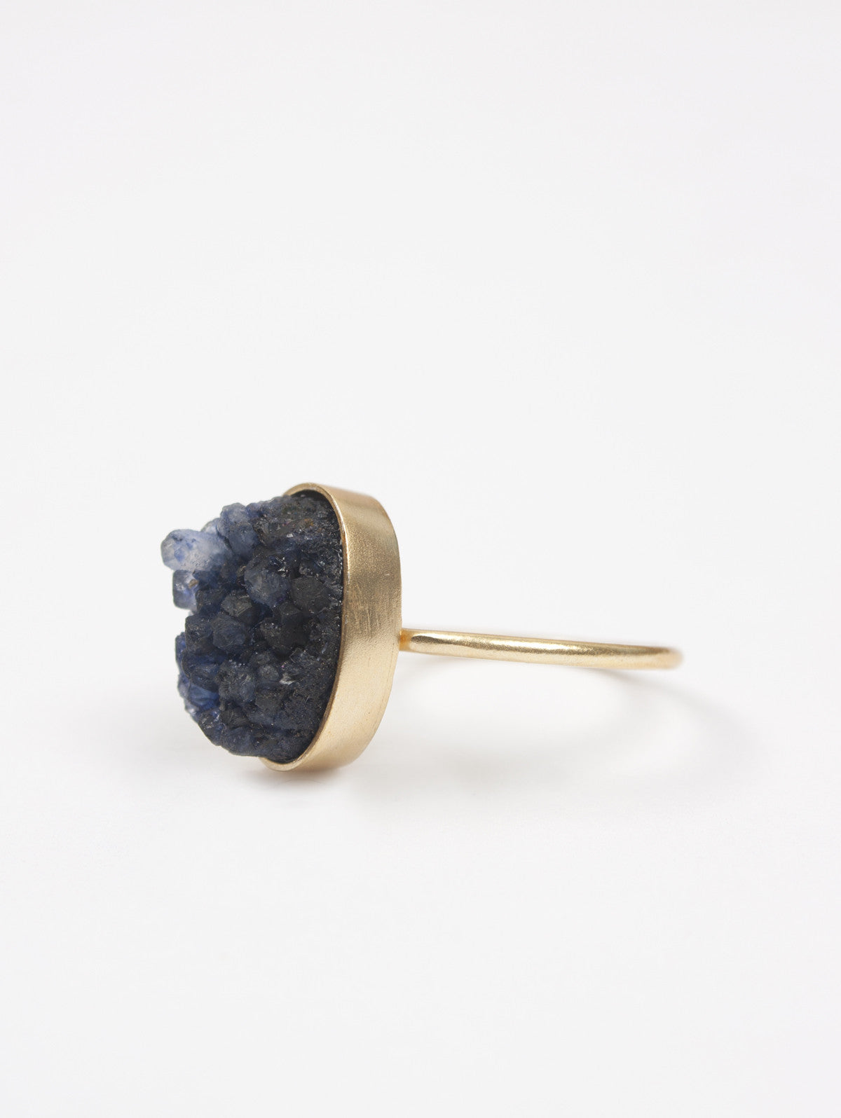 Oval Druzy Ring, Iolite