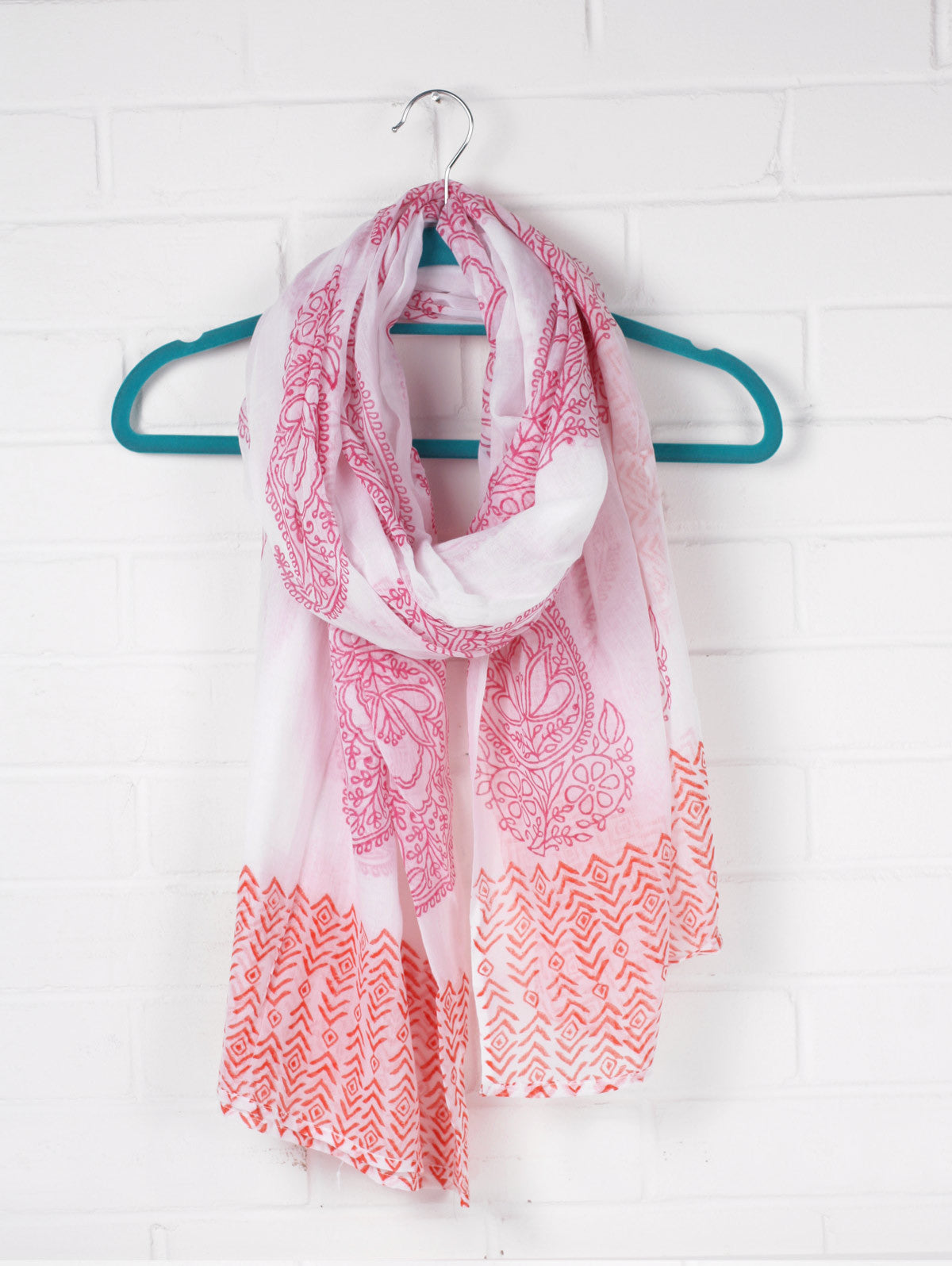 Paisley Cotton Scarves, Assorted Colours