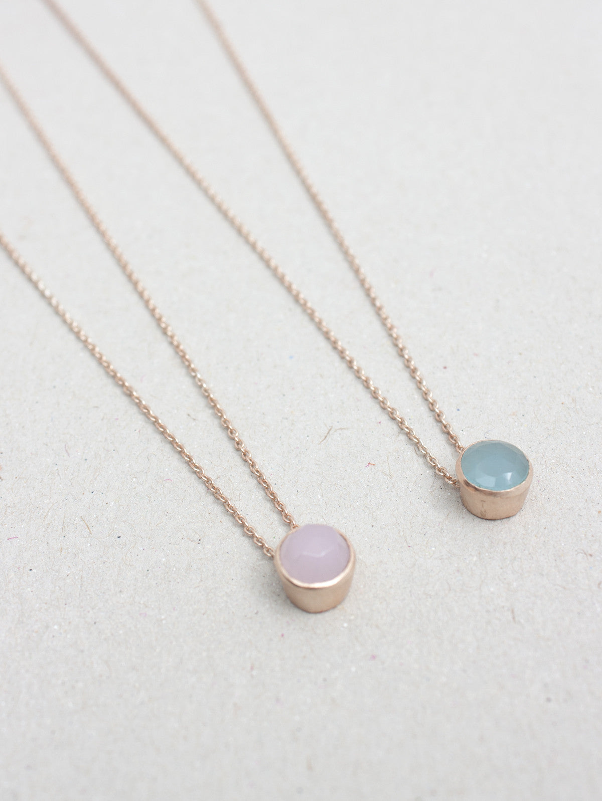 Dot Necklaces, Rose Gold