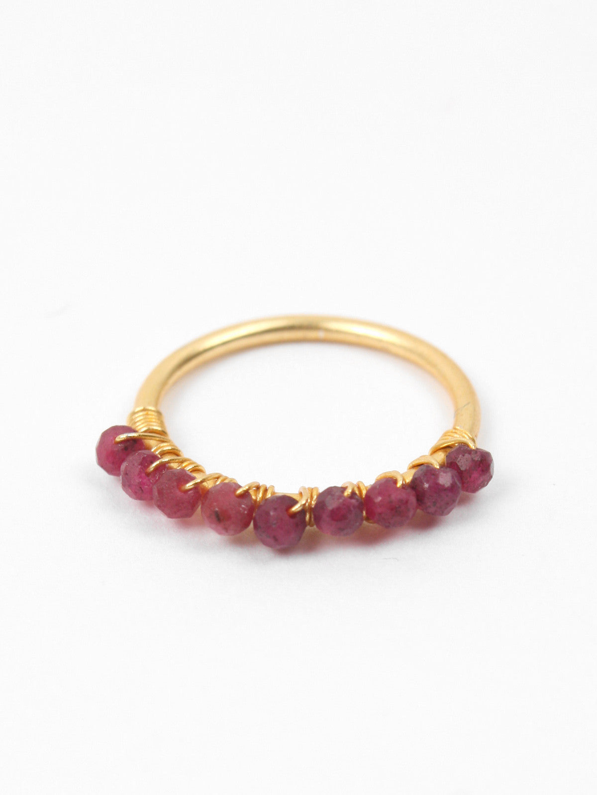 Row Stacking Rings, Ruby