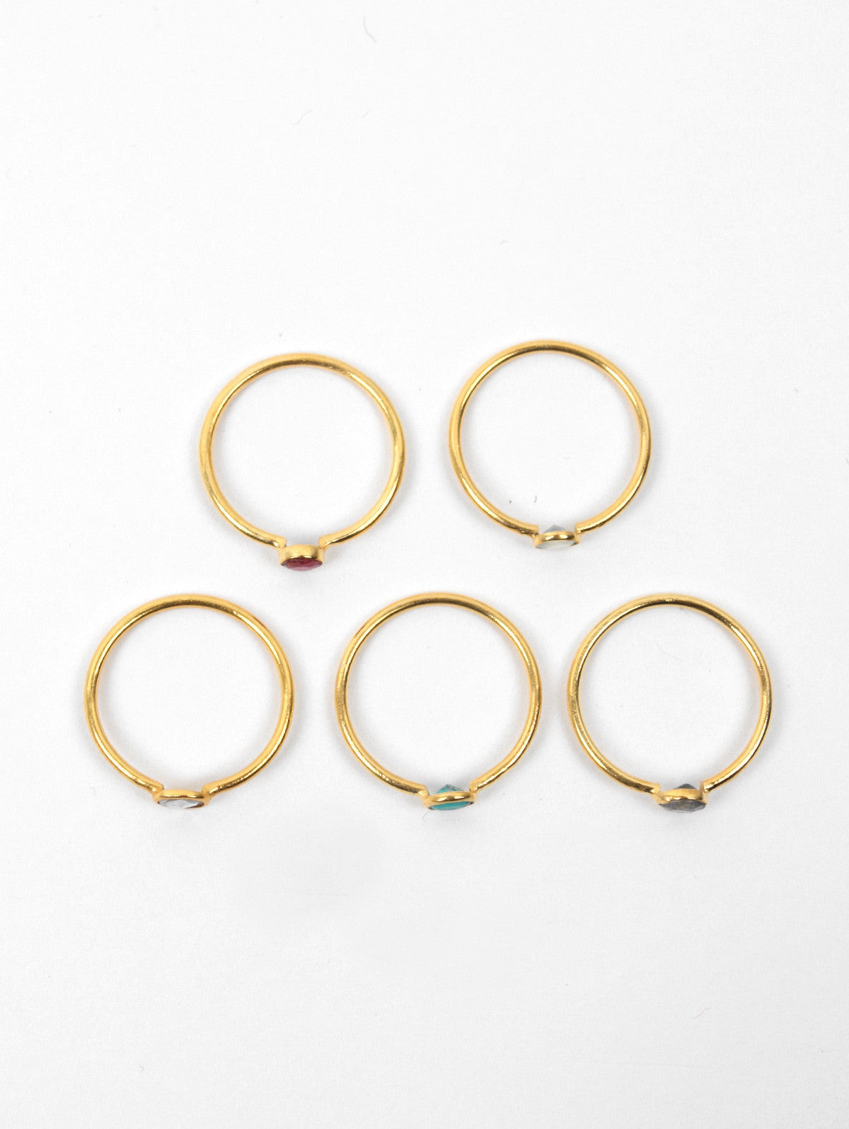 Solo Stacking Rings, Turquoise