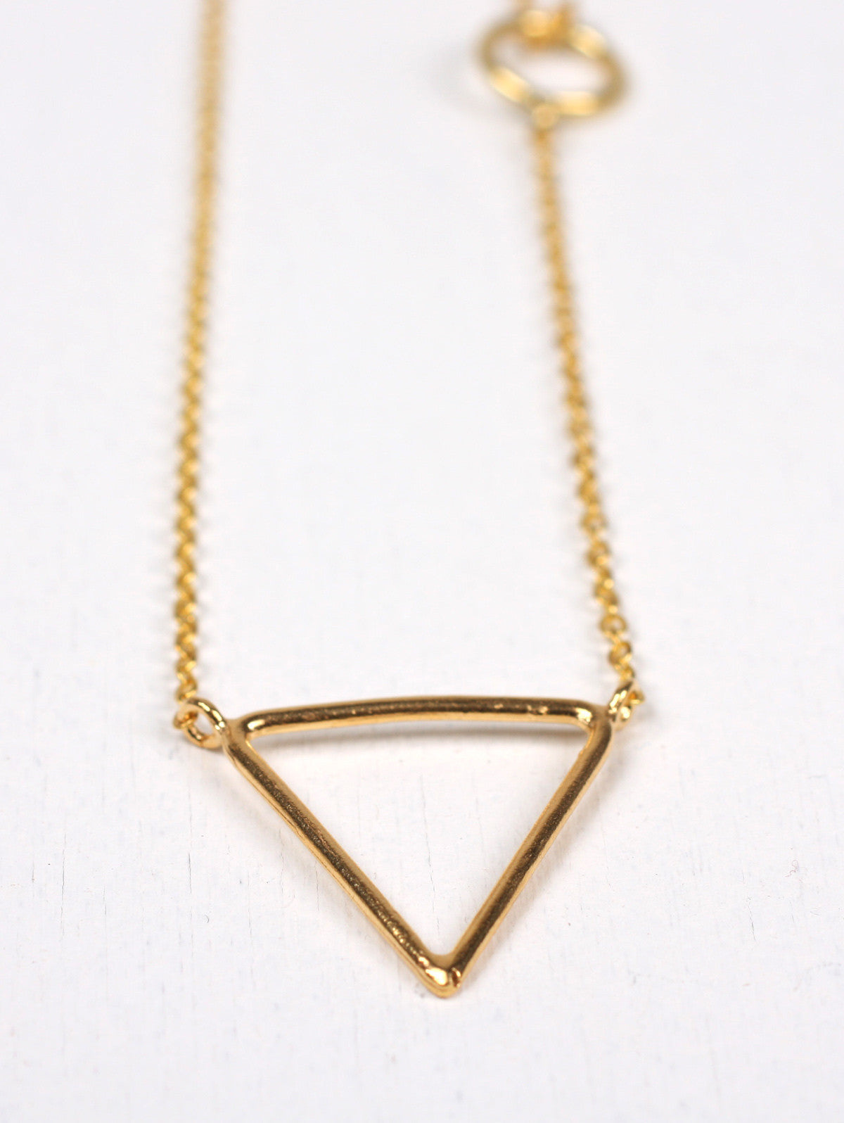 Gold Pyramid Necklaces