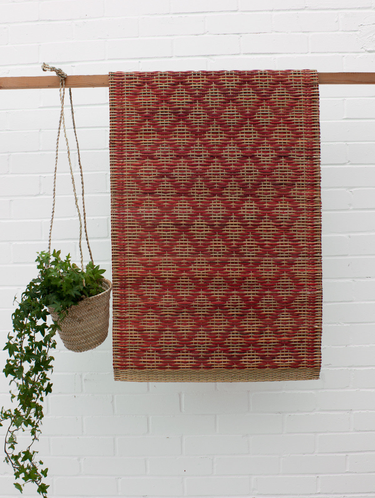 Woven Moroccan Mat, Red