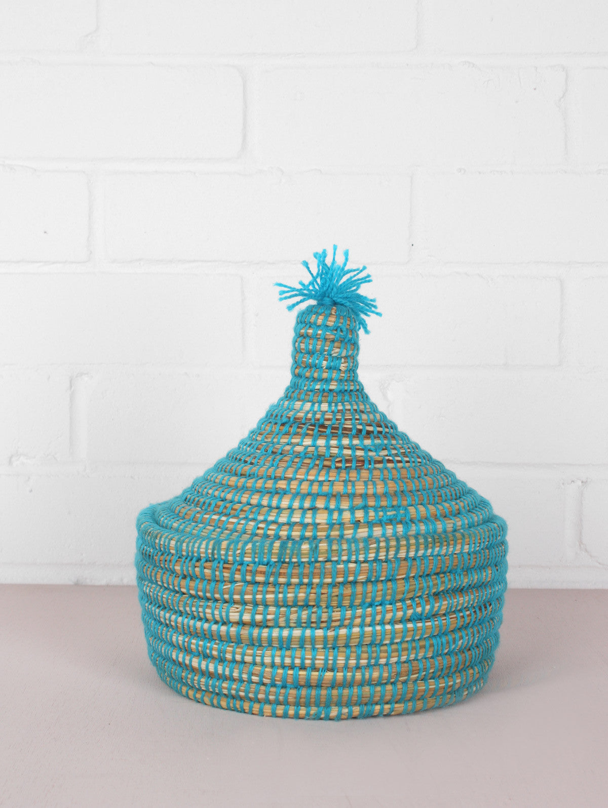 Neon Wool Pots, Blue