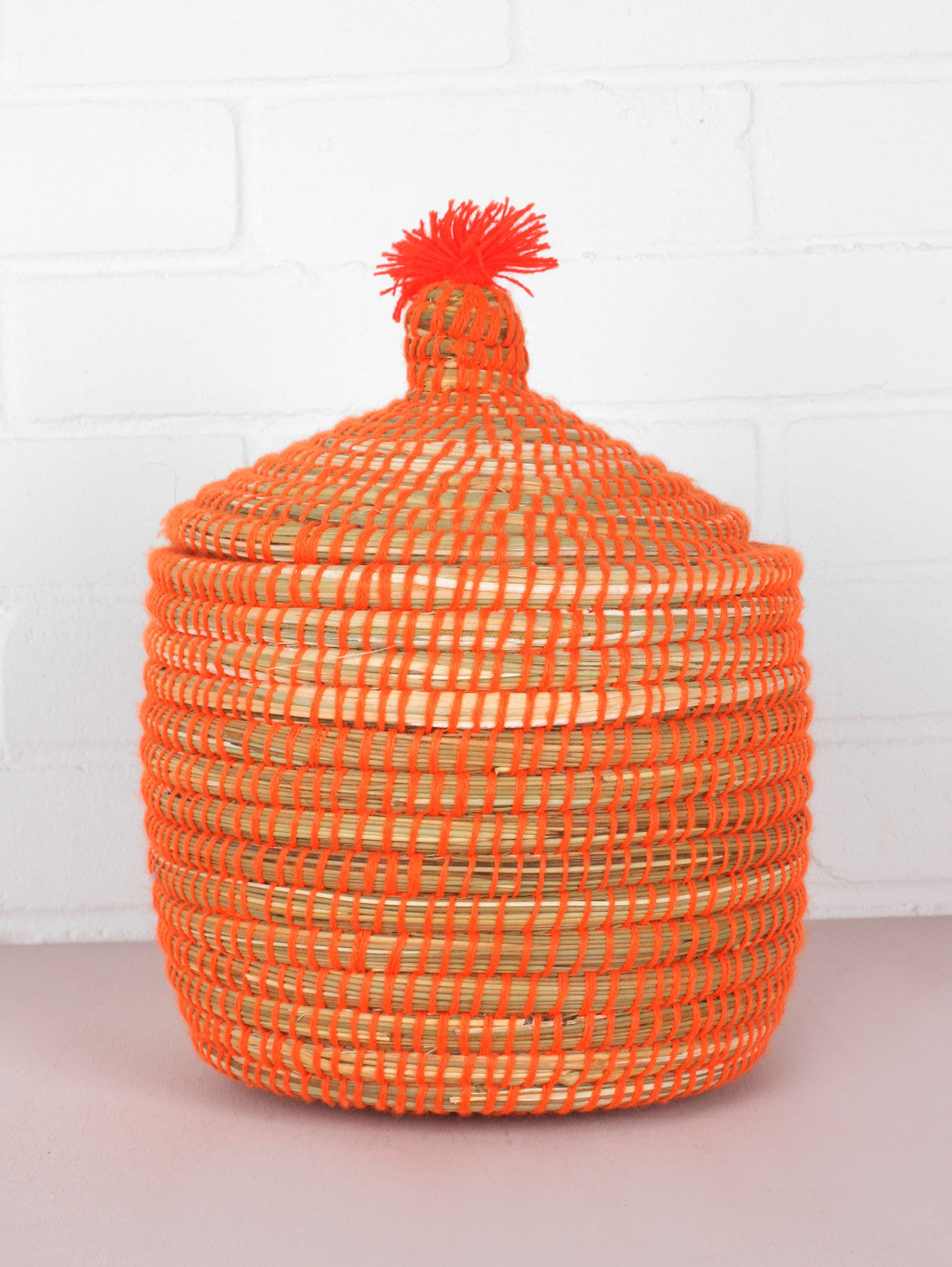 Neon Wool Pots, Orange