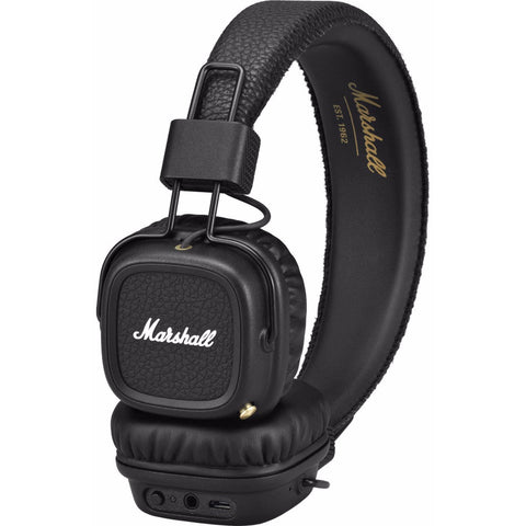 Marshall Major II Bluetooth On-Ear Headphones 藍芽無線頭戴式耳機 - Black - Marshall - On-Ear Headphones - ListenExpert Hong Kong Buy Headphones Bluetooth Speakers 購買耳機藍芽喇叭專門店