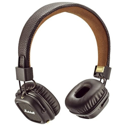 Marshall Major II Bluetooth On-Ear Headphones 藍芽無線頭戴式耳機 - Brown - Marshall - On-Ear Headphones - ListenExpert Hong Kong Buy Headphones Bluetooth Speakers 購買耳機藍芽喇叭專門店