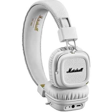 Marshall Major II Bluetooth On-Ear Headphones 藍芽無線頭戴式耳機 - White - Marshall - On-Ear Headphones - ListenExpert Hong Kong Buy Headphones Bluetooth Speakers 購買耳機藍芽喇叭專門店